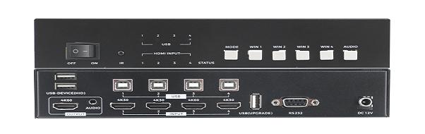 4K60 KVM四画面分割器