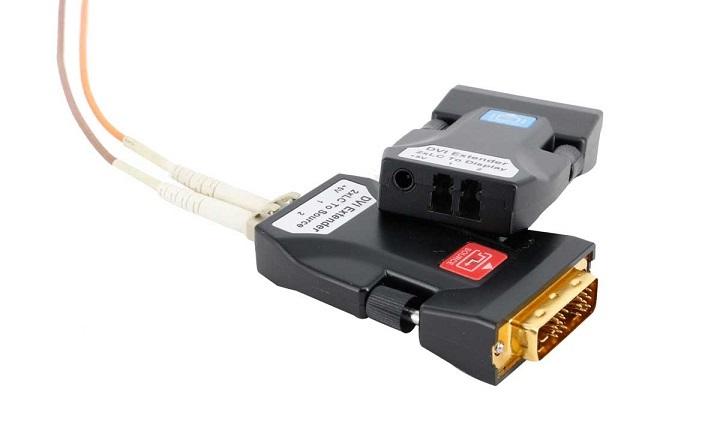 DVI两芯单模光纤传输器FIBER-DVI-210TR